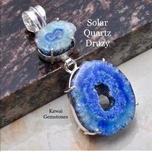 Jewelry - ✨Solar Quartz Pendant✨925 Silver